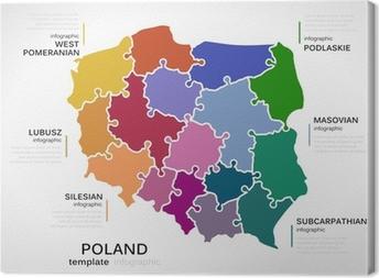 Kort Over Polen Fotolaerred Pixers Vi Lever For Forandringer