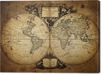 Kort over verden 1752 Fotolærred