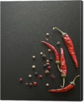 Krydderier på tavle Fotolærred