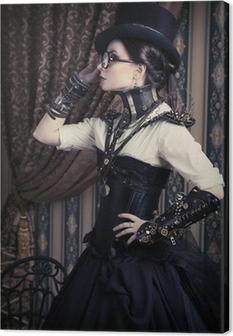 Kvindelig steampunk Fotolærred