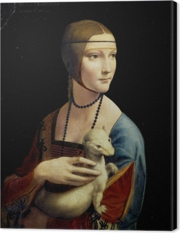 Leonardo da Vinci - Dame med hermelin Fotolærred