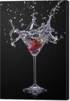 Martini drikker over mørk baggrund Fotolærred