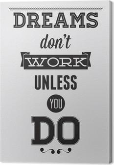 Motivational plakat Fotolærred