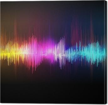 Musik equalizer bølge Fotolærred