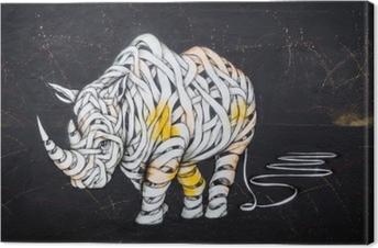 Næsehorn tag Fotolærred
