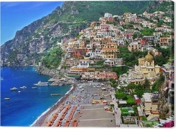 Naturskønne Italien - Positano Fotolærred