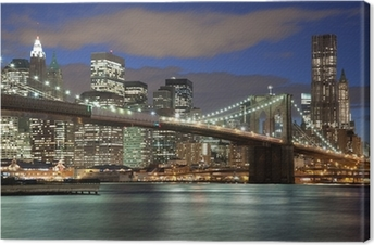 New York City skyline-Brooklyn Bridge Fotolærred