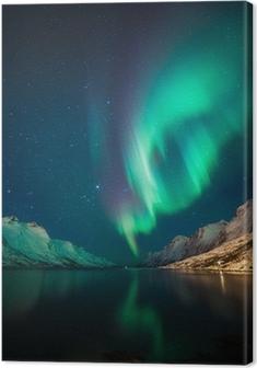 Nordlys i Norge Fotolærred