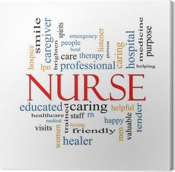 Nurse Word Cloud Concept Fotolærred