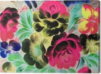 Olie maleri, impressionisme stil, tekstur maleri, blomst stilleben maleri kunst malet farve billede, Fotolærred