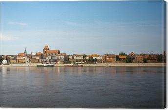 Panorama af Torun, Polen Fotolærred