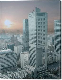 Panorama over Warszawa fra Kultur- og Videnskabspaladset. Fotolærred