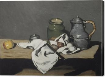 Paul Cézanne - Still Life med en kedel Fotolærred