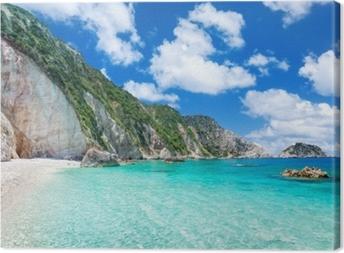 Petani Beach (Kefalonia, Grækenland) Fotolærred