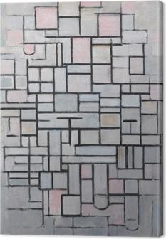 Piet Mondrian - Sammensætning nr 4 Fotolærred