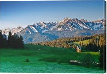 Polske Tatra bjerge panorama om morgenen Fotolærred
