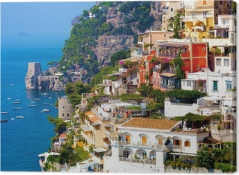 Positano, Italien. Amalfikysten Fotolærred