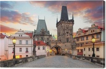 Prag udsigt fra Karlsbroen Fotolærred