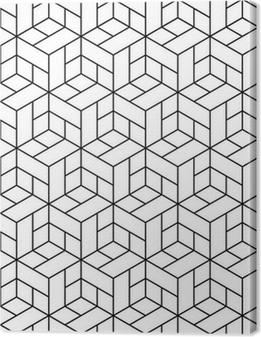 Problemfri geometrisk mønster med terninger. Fotolærred