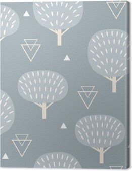 Problemfri mønster i moderne skandinavisk stil. Vektor geometri baggrund af nord natur. Fotolærred