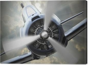 Propellerplan. Fotolærred
