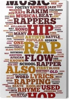 Rap og Hip Hop Music Fotolærred