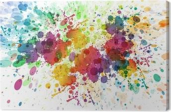 Raster version af abstrakt farverig splash baggrund Fotolærred