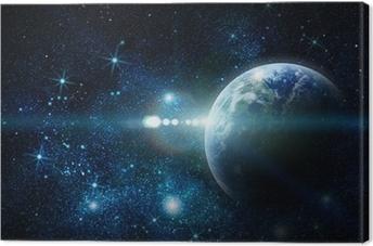 Realistisk planet jord i rummet Fotolærred