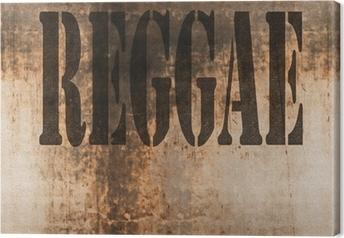 Reggae ord musik abstrakt grunge baggrund Fotolærred