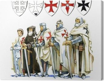 Ridders Templar Fotolærred