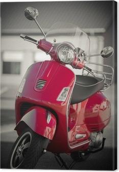 Scooter vintage Fotolærred