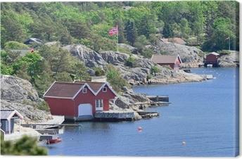 Skandinavische Küstenlandschaft Fotolærred