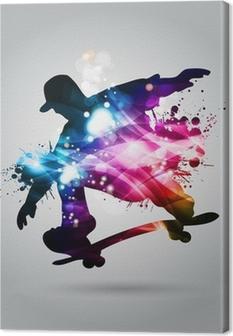Skateboard Fotolærred