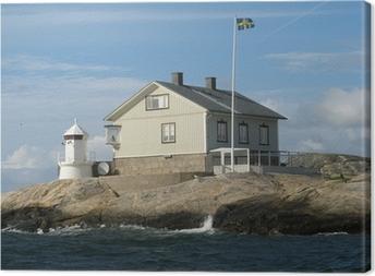 ef4e68e2 Huse ved havet på Sveriges vestkyst Fotolærred • Pixers® - Vi lever ...