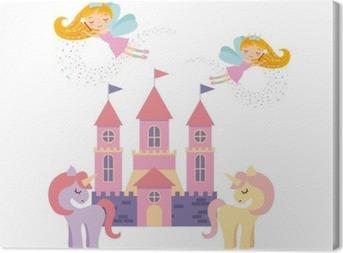 Sød pink fantasy slot vektor illustration design Fotolærred