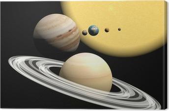 Solsystemet, abstact præsentation. Fotolærred
