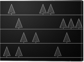 Sømløs mønster med granræer isoleret på baggrund Fotolærred