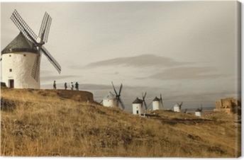 Spanske vindmøller - Consuegra Fotolærred