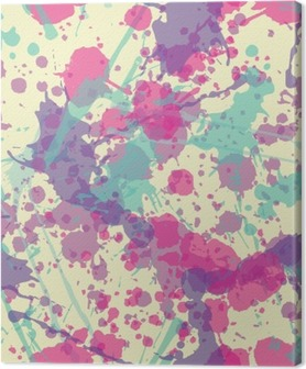 Splatter Seamless Pattern Fotolærred
