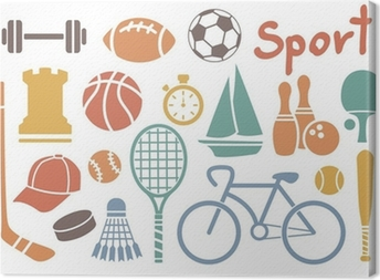 Sport ikon sæt Fotolærred