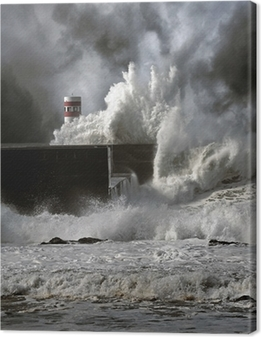 Stormfulde bølger Fotolærred