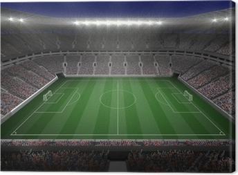 Stort fodboldstadion med lys Fotolærred