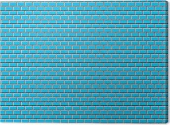 Subway Tile-Blue Fotolærred