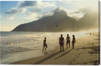 Sunset Silhouettes Spiller Altinho Futebol Beach Football Brazil Fotolærred