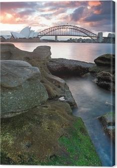 Sydney Opera House og harbor bridge Fotolærred