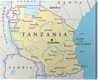 Ostafrika Kort Ostafrika Landkarte Fotolaerred Pixers Vi