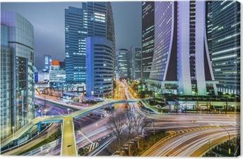 Tokyo Japan ved West Shinjuku Skyscraper District Fotolærred
