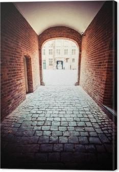 Traditionel arkitektur i den berømte polske by, Torun, Polen. Fotolærred