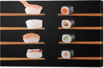 Traditionel japansk mad Fotolærred