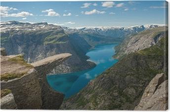 Trolltunga, Trolls tungeberg, Norge Fotolærred